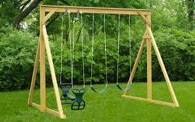 the economy wood swing set