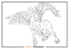 Kleurplaten Eenhoorn Met Vleugels