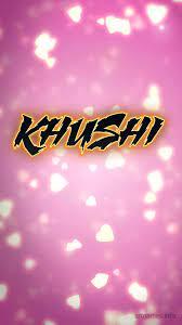 Khushi as a ART Name Wallpaper!
