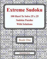 Killer Sudoku Combinations Chart Extreme Sudoku 100 Hard To Solve 25 X 25 Sudoku Puzzles