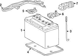 parts com® toyota fj cruiser battery oem parts 2007 toyota fj cruiser base v6 4 0 liter gas battery