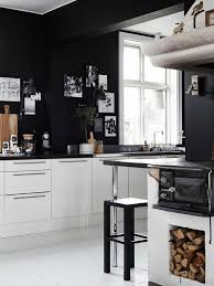 kitchen design ideas black wall color white Kschenschrnke