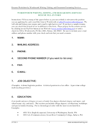 ... cover letter Fill In Resume Outline Fill The Blank Forms Sampleresume  fill in Extra medium size