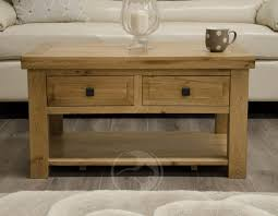 solid oak coffee table with drawers add to wishlist