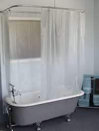 clawfoot tub shower curtain inspiration for embroidered shower curtain inspiration for clawfoot shower curtain rod