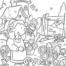 Flower Garden Coloring Page Flower Garden Coloring Page Colouring