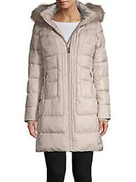 Larry Levine Faux Fur Hooded Coat Lordandtaylor Com