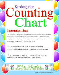 Common Core Counting Chart For Kindergarten