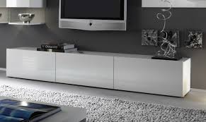 Mobile soggiorno porta tv matera bianco laccato lucido 3 ante a
