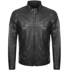 belstaff a racer leather jacket black