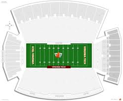 Scott Stadium Seating Chart With Seat Numbers Lane Stadium Virginia Tech Seating Guide Rateyourseats Com