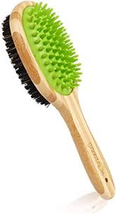 Pecute <b>Double Sided</b> Pet Massage <b>Bath Brush</b> - 2 in 1 Silicone ...