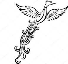 тату птица феникс векторное изображение Idesign2000 11060869
