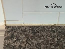 this grout line on top of the granite top is quite normal in a new
