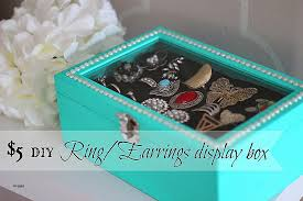 how to make a ring holder for a jewelry box new diy rings earrings display box only 5 dollar craft