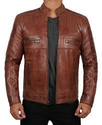 austin slim fit leather jacket