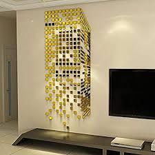 Diy mirror decor Diy 3d Image Unavailable Diy Joy Amazoncom Linpin 290pcs Mirrors Wall Stickers Homeoffice Decor