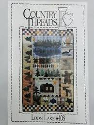 Country Threads Loon Lake #408 quilt pattern wall hanging 25x40 ... & Image is loading Country-Threads-Loon-Lake-408-quilt-pattern-wall- Adamdwight.com