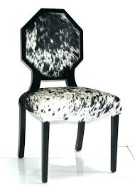 cow print dining chair cowhide ocon dining chair with regard to renovation cow print zebra chairs