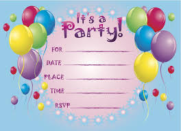 Birthday Party Invitation Template Website With Photo Gallery With
