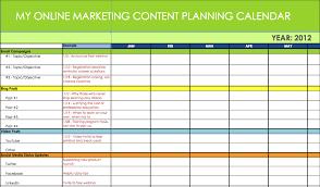 Marketing Schedule Template Calendar Plan Ninjaturtletechrepairsco 10