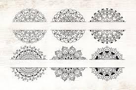 Download mandala bundle svg| the very therapeutic zentangle bundle (59961) today! Love Hearts Mandala Split Monogram In 2020 Mandala Design Art Mandala Sketch Mandala