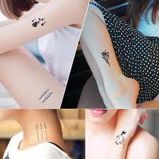 10 шт временные татуировки водонепроницаемый красивые цветы татуировки комплект