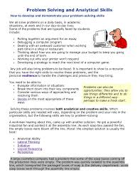 Problem Solving and Analytical Skills How to develop and demonstrate your  problem-solving skills We ...