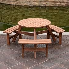 wood patio table set 4 seater garden furniture set
