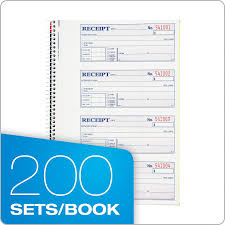Adamsmoney And Rent Receipt Book 2 Part Carbonless 7 5 8 X 11