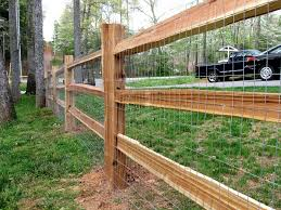 2x4 welded wire fence.  Wire 3 Hole Cedar Split Rail Fence With Galvanized 2x4 Welded Wire Fabric  Attached Intended Welded Wire Fence