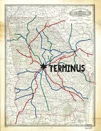 the walking dead terminus map canvas print by habubita
