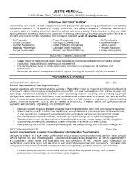 Superintendent Resume Examples] Site Superintendent Resume .