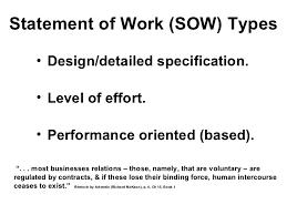 design statement of work statement of work outline