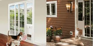 stylish electronic patio pet door big sliding glass patio pet doors electronic manual