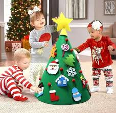 Christmas Photo Kids The Best Felt Christmas Trees For Kids To Decorate