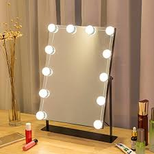 10 pcs led makeup mirror night lights eu us plug dressing wall lamp waterproof ip66 dimmable