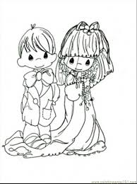 Kids Precious Moments Wedding Coloring Pages #5081 Precious Moments ...