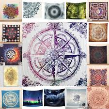 details about indian mandala tapestry hippie wall hanging bohemian bedspread beach blanket hot