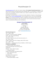 Sample Resume: Physiotherapist Resume Sle Downloads Full.
