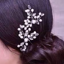 Bruid Haarversiering 2 Stuks Haarkam Parel Steentjes