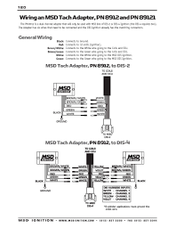 msd ignition wiring diagrams msd dis 2plus to tach adapter 8912 89121 acircmiddot msd dis 2 programmable installation instructions