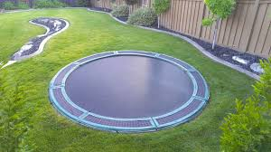 how to install an in ground trampoline