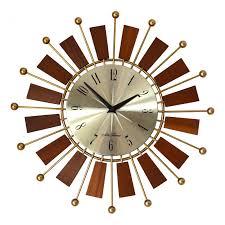 mid century wall clock manufacturer seth thomas 1960s