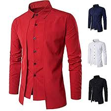 Mens Dress Shirt Conversion Chart Wpch New Mens Fashion Luxury Casual Slim Fit Stylish Long Sleeve Dress Shirts Tops White Xl