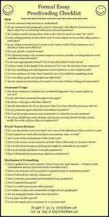 proofreading and editing checklist for writing assignments basic essay proofreading checklist could make into a rubric