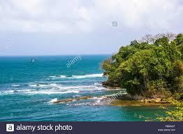 Blick in die Karibik ab Fort San Lorenzo in der Nähe von Colon in Panama  Stockfotografie - Alamy