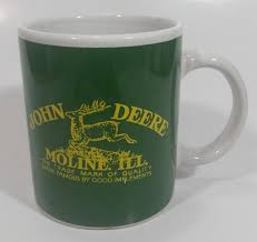 We'll review the issue and make a decision about a partial or a full refund. Gibson John Deere Tractors Moline Illiniois Ceramic Coffee Mug Farmin Treasure Valley Antiques Collectibles