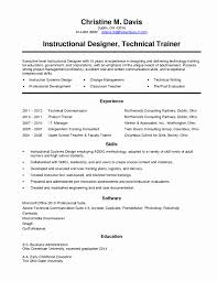 Technical Trainer Resume Horse