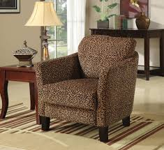 cheetah accent chair
